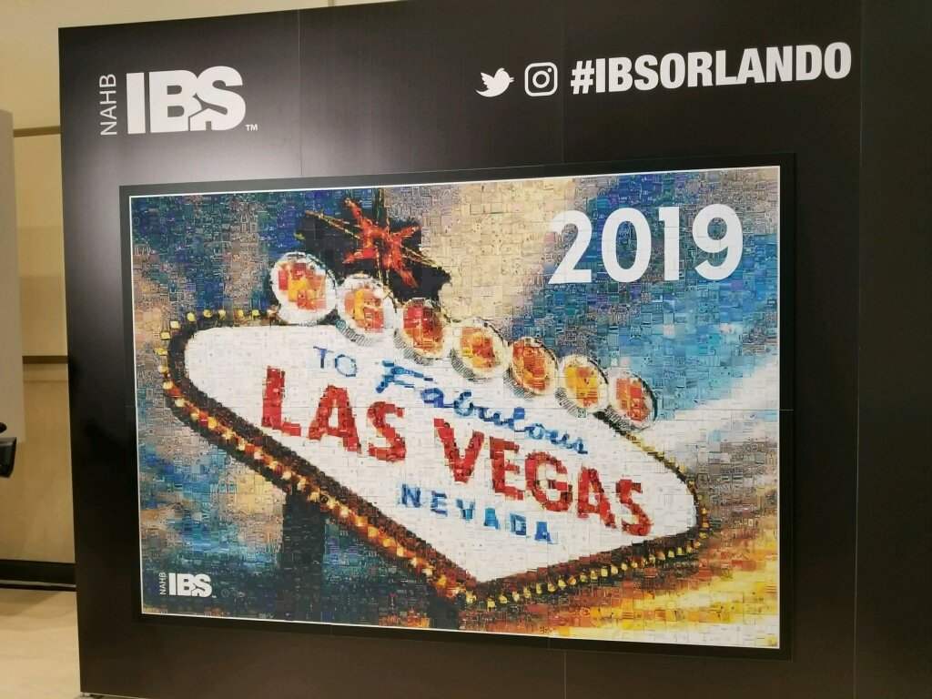 Twitter Mosaic from IBS 2018 of the Welcome to Las Vegas Sign