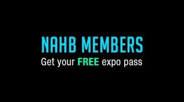 NAHB member FREE Expo Pass