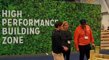 demonstration at the high performance building zone during 2019 builders' show