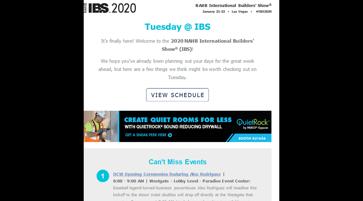 IBS daily email screenshot