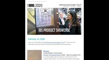 IBS Product Email