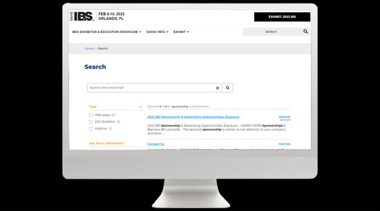 Screenshot of buildersshow.com search page