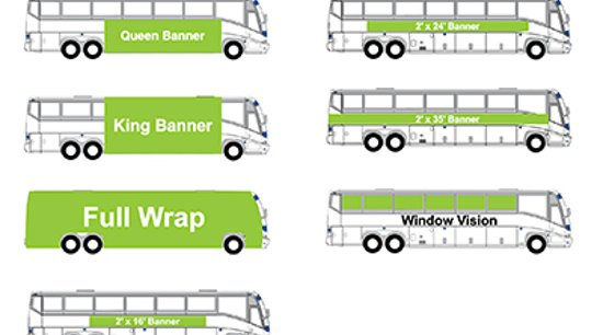 Shuttle Bus Signs