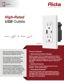 Image for High Rated USB Outlets